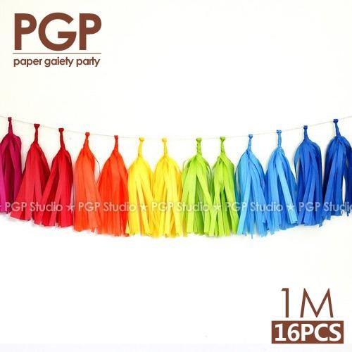 [PGP] Mavrični tekstilni papir Pastir Garland, Samorog velikonočni pustni otroški tuš Otroška dekleta Rojstnodnevna zabava Trolls Okraski