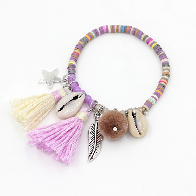 Handmade Bracelets with Tassels for Women
