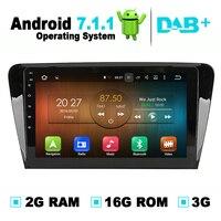 Android 7.1 Systeem 2G RAM Auto DVD Gps-navigatiesysteem Stereo Media Auto Radio Audio Video voor Skoda Octavia A7 2013 2014 2015