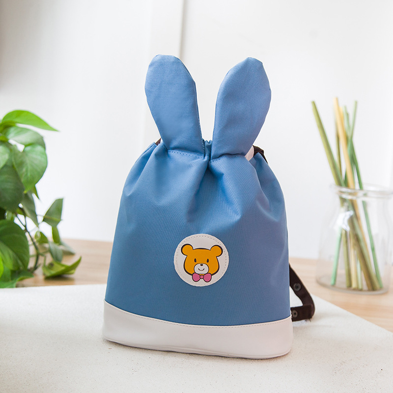 New  Baby Girl BACKPACK Children's Bag Fashion Cute Rabbit Ears Double Shoulders Backpack  Baby Backpack Accessories