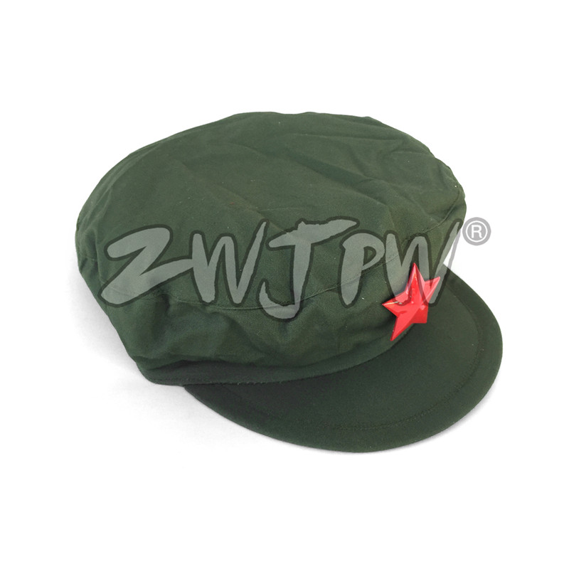 Chinese Military Liberation Army Type 65 Cap with Red Five-pointed Star Army Green Hat Replica CN/401107(China)