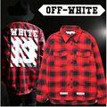 2016 dos homens Off White marca Hip Hop de manga comprida t - camisas dos homens da forma Sreetwear espinhel camisetas Homme Kanye West roupas
