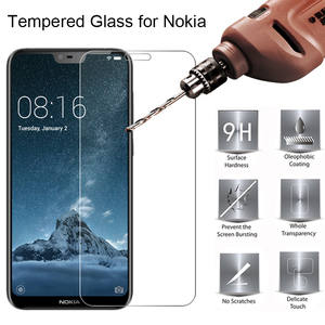 Nokia Transparent Hard Film Glass on for Nokia 3.1 5.1 6.1 Plus 2018 Tempered Glass