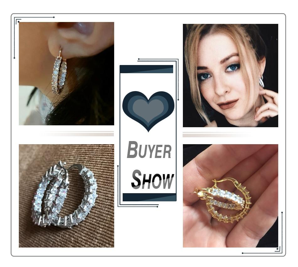 Effie Queen Μεγάλο Στρογγυλό Hoop - Κοσμήματα μόδας - Φωτογραφία 5