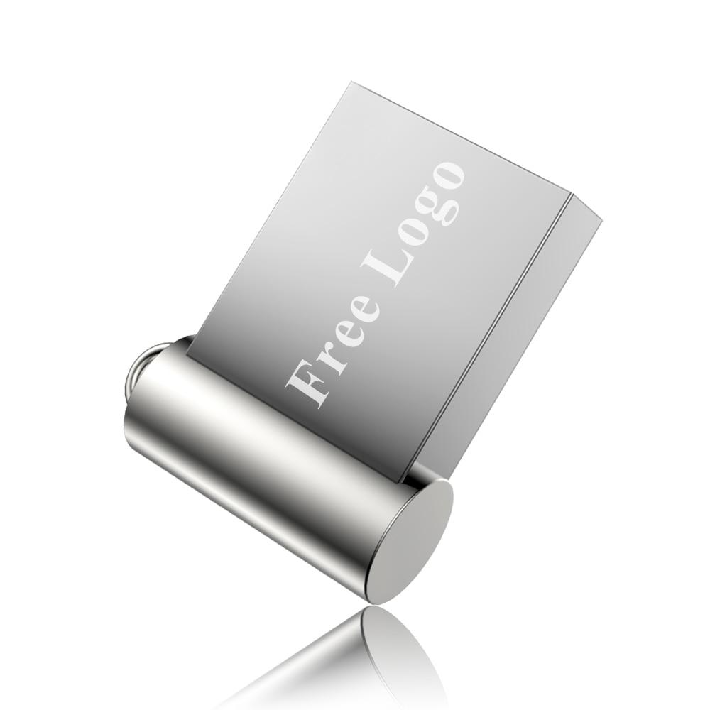 Image 4 - Mini hot sale driver stick 4GB 8GB metal material 16GB 32GB U disk flash drive 64GB 128GB free custom LOGO free shipping-in USB Flash Drives from Computer & Office