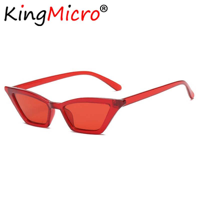 bede94ea0a ... Small Cat Eye Sunglasses Women Vintage Narrow Skinny Colorful Plastic  Retro Ladies Sun Glasses Girl Black ...