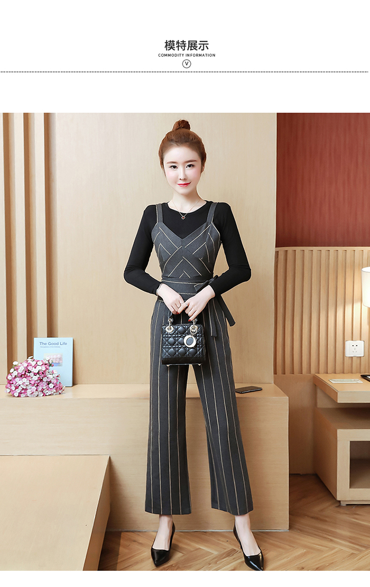 YICIYA Women outfits tracksuit sportswear Striped top and bib pants suits 2 piece set co-ord set OL Office 2019 bodycon clothing 14