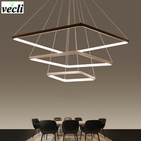 LED Chandelier Lighting Modern Chandeliers Kitchen Light Fixtures Acrylic Lampshade Lustre Dimmable With Control AC 85