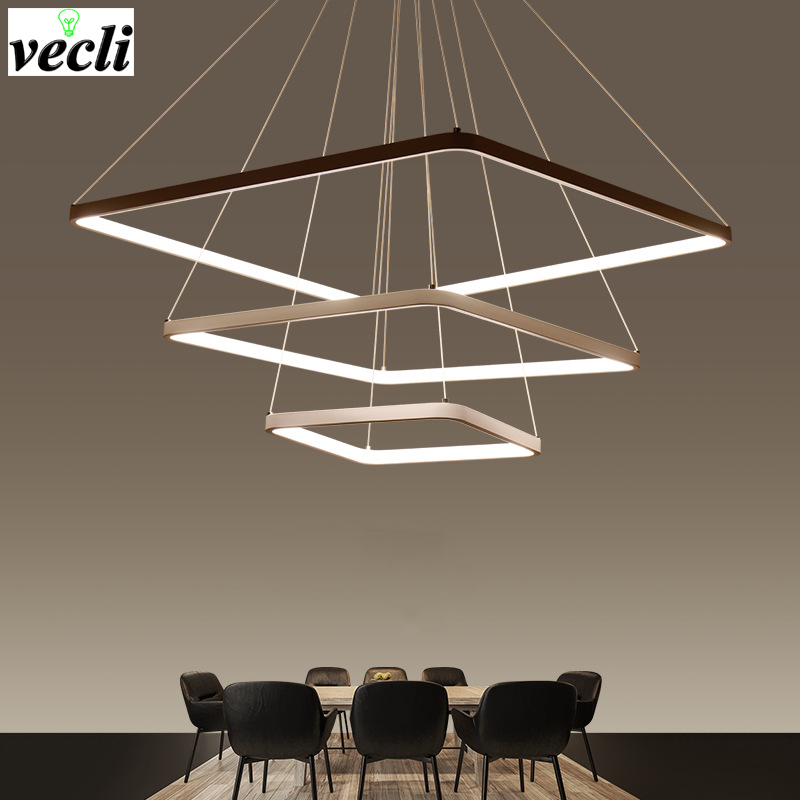 LED Chandelier Lighting Modern Chandeliers Kitchen Light Fixtures Acrylic Lampshade Lustre Dimmable With Control AC 85-260V Lamp festivel lightings modern chandeliers lighting high quality handmade chandelier led bulbs lightings