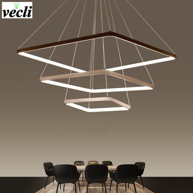 LED Kronleuchter Beleuchtung Moderne Kronleuchter Küche Leuchten Acryl  Lampenschirm Glanz Dimmbar Mit Control AC 85