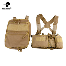 Tactical Flatpack D3 Plus Backpack Bag Hydration Chest Rig Vest AK M4 Pistol Magazine Pouch Insert Hiking Hunting Army Unisex outdoor hunting tactical chest rig adjustable padded modular military vest mag pouch magazine holder bag platform