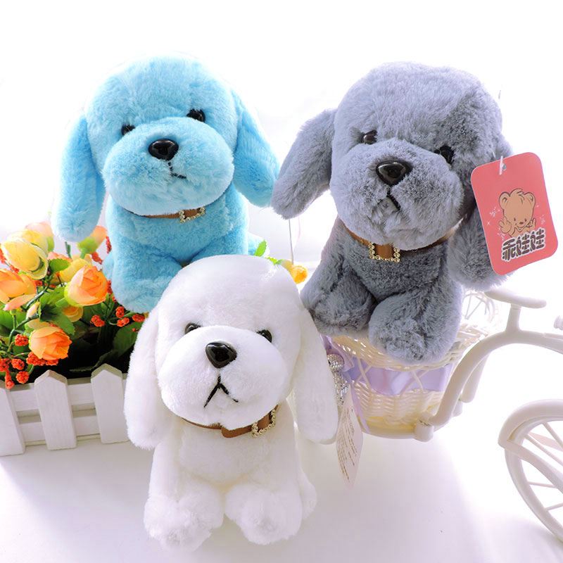 Little Puppy Toys : Cm small puppy stuffed plush dogs toy white grey blue