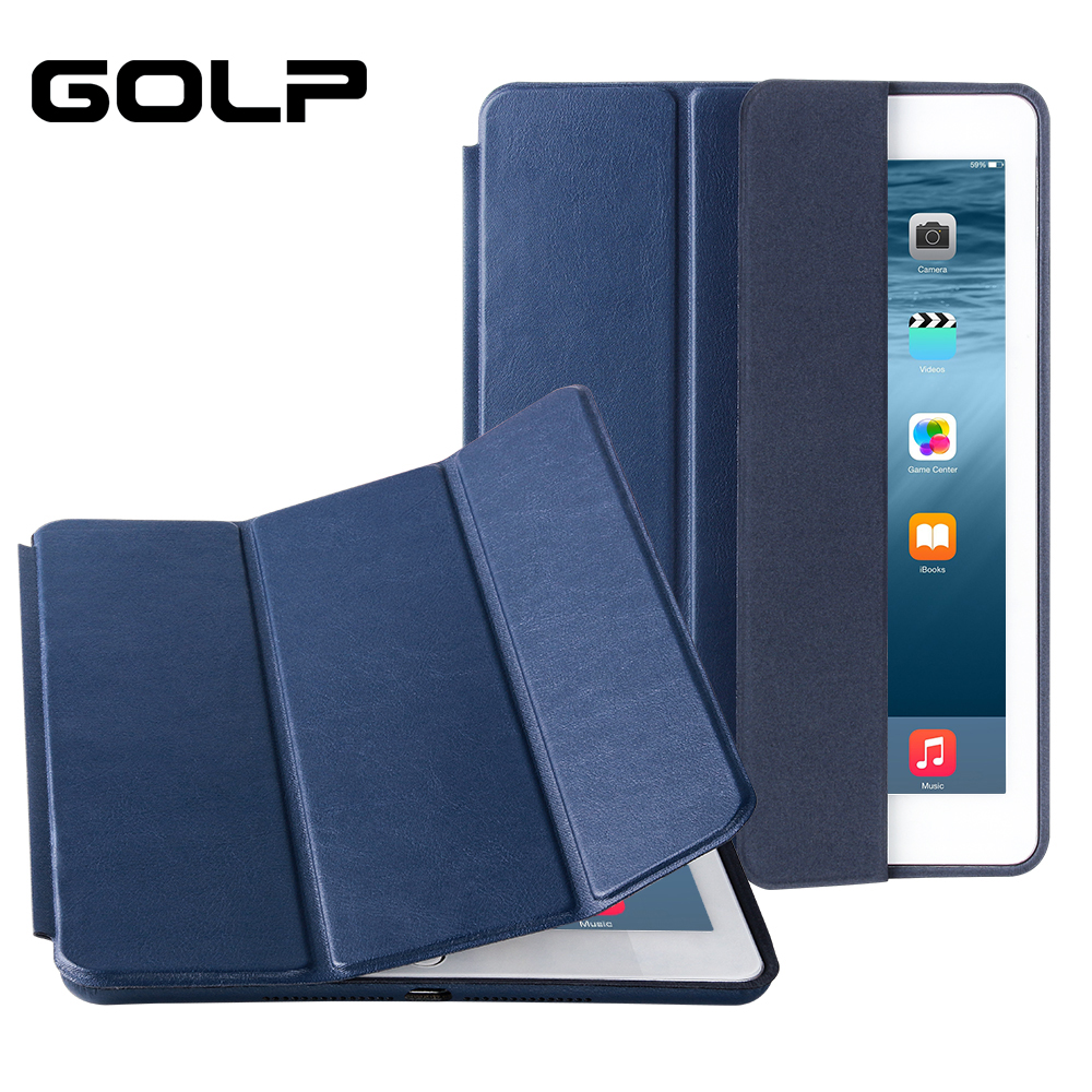 for ipad air case,  GOLP PU leather Smart cover iPad 1, Stand case For 2, Funda Flip Cases IPad 1 2