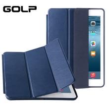 עבור ipad air מקרה, GOLP עור מפוצל חכם כיסוי עבור ipad air 1, סטנד מקרה עבור ipad air 2, Funda Flip מקרים עבור ipad air 1 2