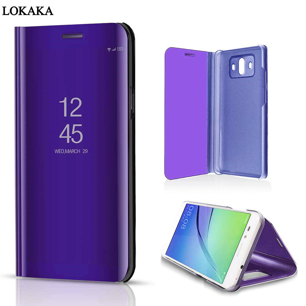 LOKAKA Case For Huawei Mate 10 Pro Mate10 Bracket Smart luxury Phone Back Bags Cases Cover For Huawei Mate 10 Pro with Kickstand