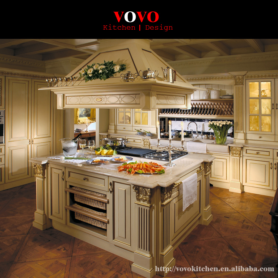 Upscale Kitchen Cabinets: Classic Modular Luxury Solid Wood Kitchen Cabinet Designs