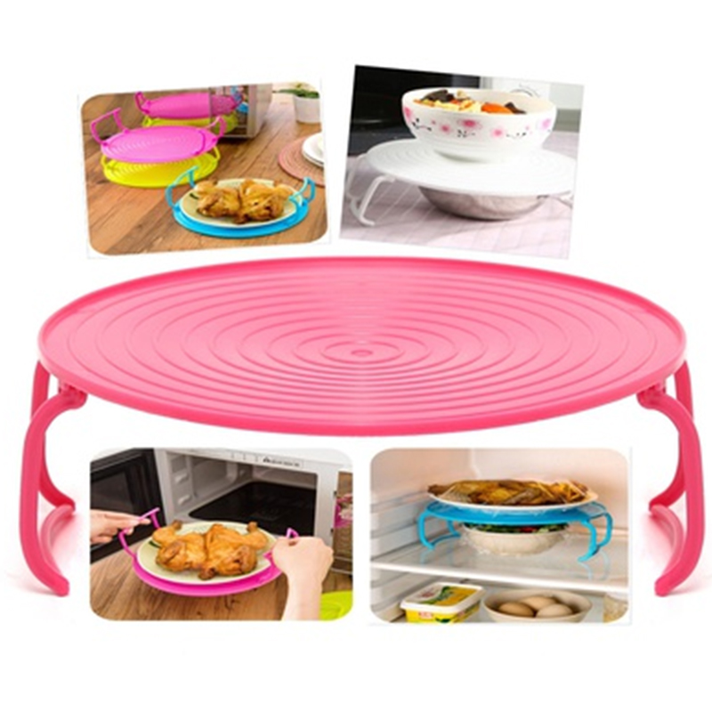 1 x Microwave Oven Plate Holder Pallet Rack Stand  sc 1 st  AliExpress.com & Folding Microwave Oven Rack Cover Dish Plate Holder Insulated Tray ...