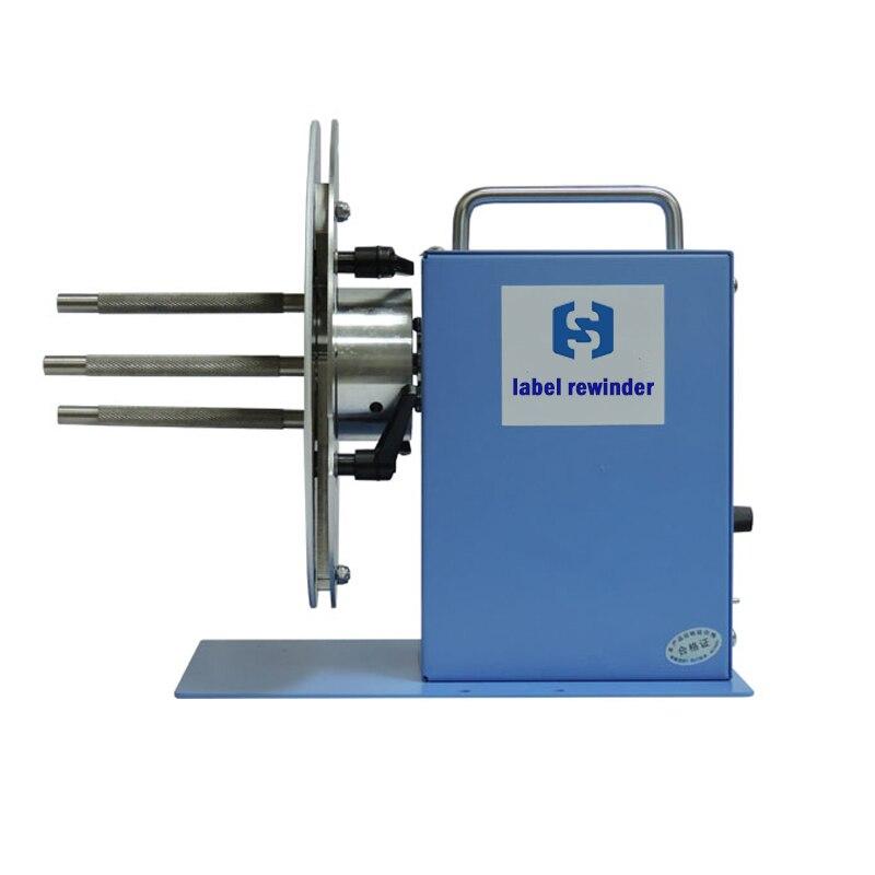 Alta qualidade máquina rebobinadeira rótulo vestuário etiqueta de código de barras da etiqueta etiqueta de lavagem automática de rebobinamento com 3 anos de garantia