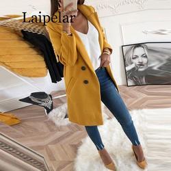 Laipelar костюм осень зима женские куртки для офиса Блейзер Куртка Повседневная элегантная длинная 2019