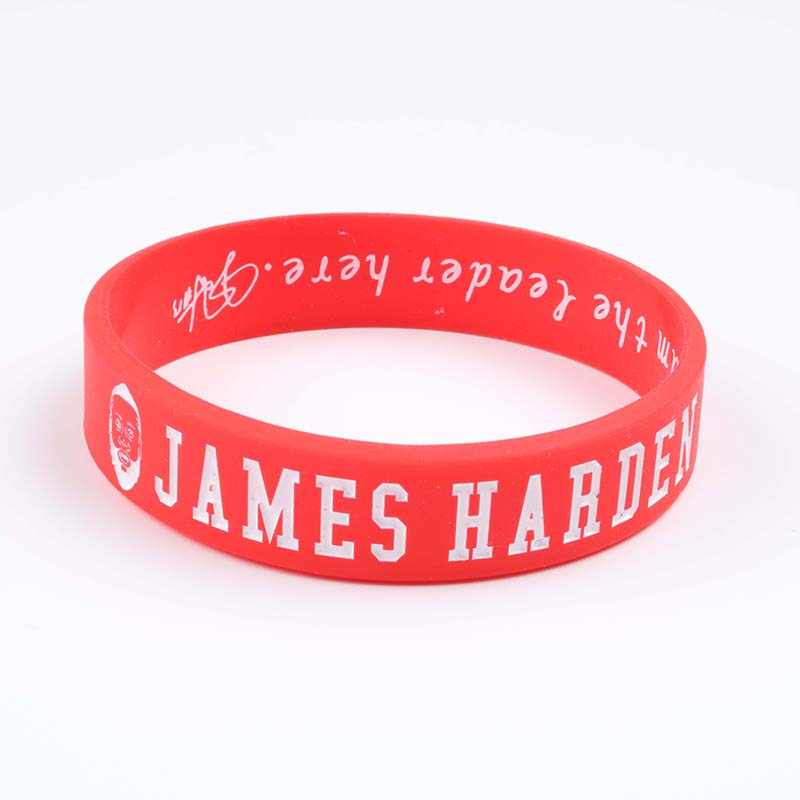 b14ecce3df6d ... 1 PC JAMES HARDEN Avatar Silicone Bracelets New Style Big beard Rocket  Red Basketball Players Silicone ...