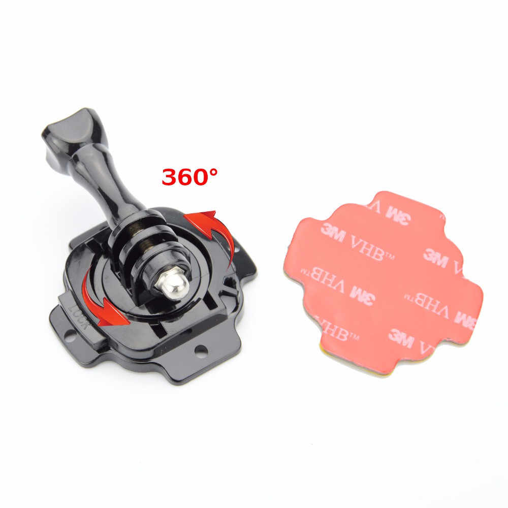 Camera Accessories Kit 360 Degree Rotating Helmet Mount 3M Adhesive Sticker for Gopro Hero 7/6/5 XIaomi Yi SJCAM SJ4000 SJ5000