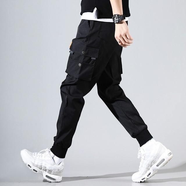 r Fashion Workwear Pants Men Skateboard Multiple Pockets Men Hip Hop Pants Ins Casual Pants Men