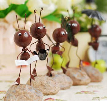 Lovely Ants Iron Crafts Vintage Cute Iron Ants Metal Crafts Fairy Garden  Miniatures Ornaments Iron H