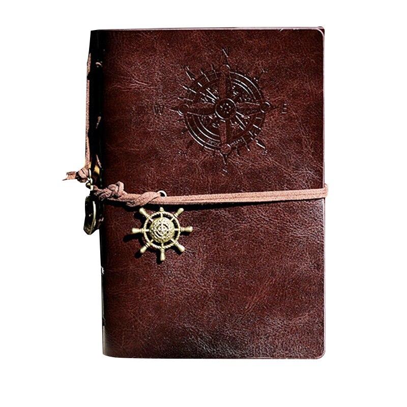 Retro Personality Notebooks Journal Notepads Ring Binder Diary Notebook Dark Coffee S