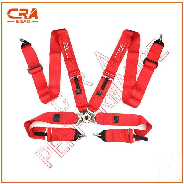 2016 Recién Llegado de SPA *** 3 pulgadas 5 puntos de Liberación Rápida Rojo Racing Cinturones de Seguridad/Cinturones de Seguridad/Arnés