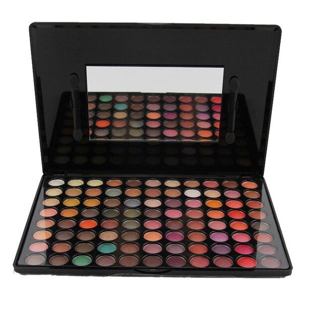 1 unids pro 88 colores mate paleta de sombra de moda sombra de ojos conjunto con mirror sombra de ojos brillo paleta de sombra de ojos maquillaje