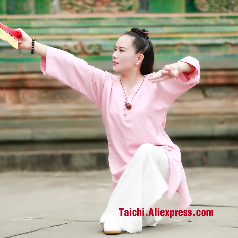 linen Tai chi clothing Taijiquan female clothing Wudang clothes Kung Fu performance clothing Wushu Clothing martial art Uniforms painted handmade linen tai chi uniform taijiquan female clothing summer short sleeved wushu kung fu jacket pants