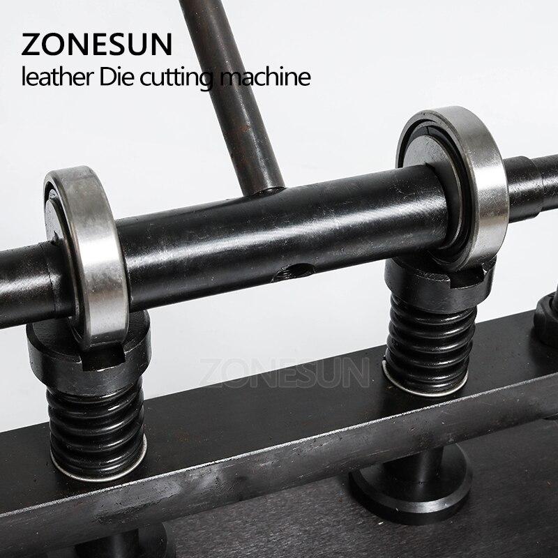 ZONESUN 3616 cm Double roue main en cuir machine de découpe papier photo PVC/EVA feuille moule coupe en cuir machine de découpe outil - 2