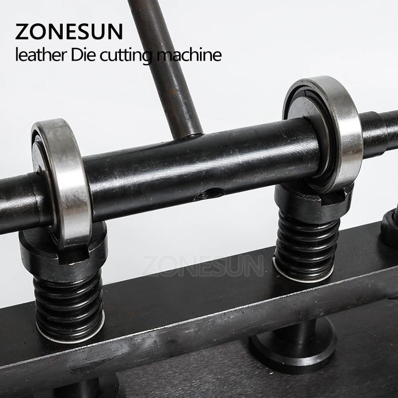 ZONESUN 3616cm Double Wheel Hand leather cutting machine photo paper PVC/EVA sheet mold cutter leather Die cutting machine tool - 2