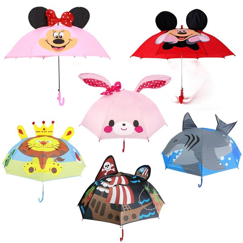 bb9212fe06101 Children Umbrella Cute Kids Windproof Folding Sun UV Protection Birthday  Gift Baby Child Umbrella with Cat