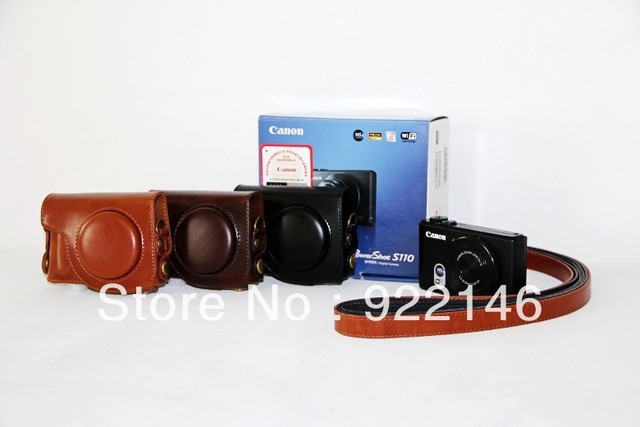 Free Shipping, New Pu Leather Camera Case Bag For Canon Powershot S110 S110V