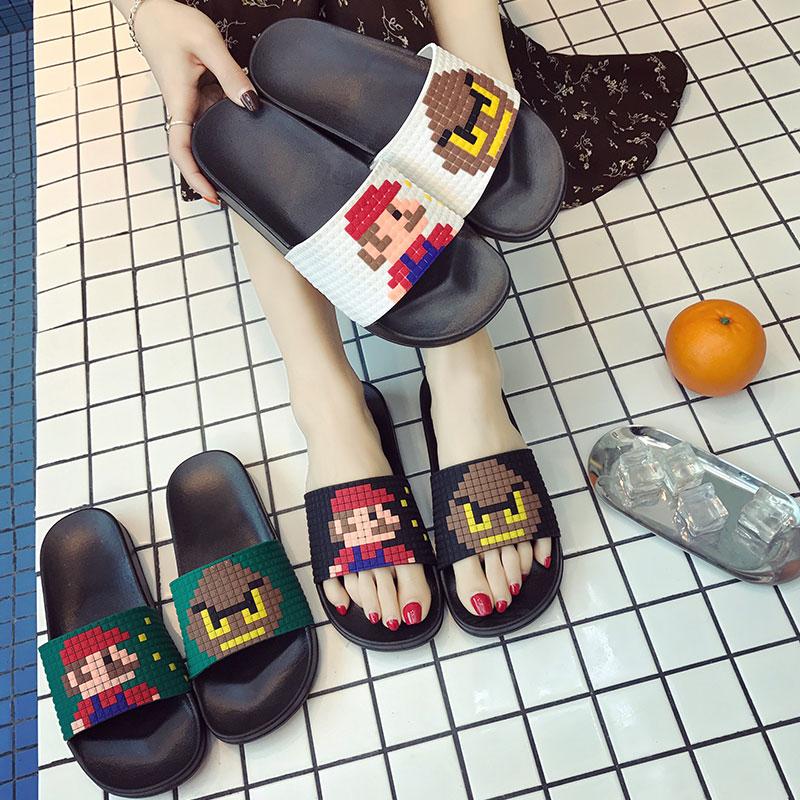 Fashion Women Slide Sandals Summer Slides Women Shoes Slippers Pixel Lovers Slip On Flip Flops Zapatillas Mujer DropshippingFashion Women Slide Sandals Summer Slides Women Shoes Slippers Pixel Lovers Slip On Flip Flops Zapatillas Mujer Dropshipping