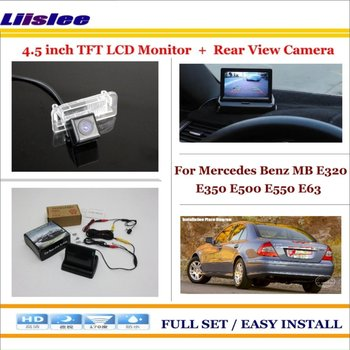 "Liislee For Mercedes Benz MB E320 E350 E500 E550 E63 Car Reverse Rear Camera + 4.3"" TFT LCD Monitor = 2 in 1 Parking System"