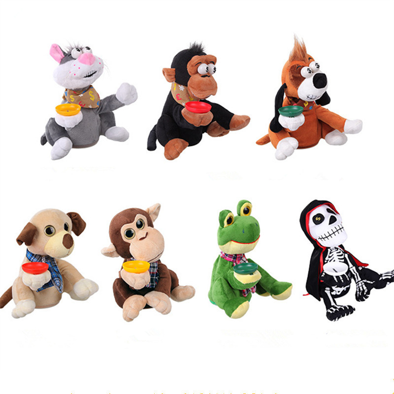 1PCS Children Electric Pet Plush Doll Robotic Dog Coin Piggy Bank Money Box Saving Pot Dancing Laughing Kids Children Gifts Toy