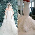 Vestidos De Novia New Romantic Sexy Mermaid Lace Sweetheart Neck Court Train Wedding Dress Bridal Gown Custom Made Size