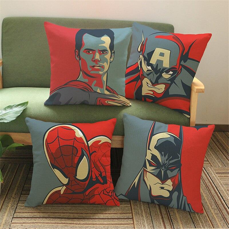 Super Heros Housse De Coussin Taie D Oreiller Superman Spider Man