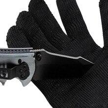 1 пара черные защитные перчатки с защитой от порезов из нержавеющей стали, перчатки для охоты