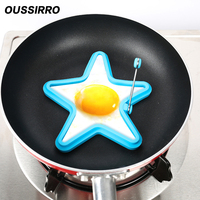 1 PCS Portable Food Grade Silicone Star Shape Fried Egg Mould High Temperature Resistant Microwave Oven