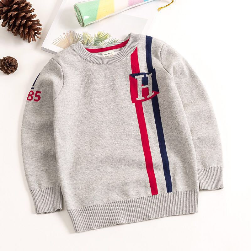 QAZIQILAND Autumn Spring Toddler boys sweater baby kids knitwear fashion plaid pattern jumper long sleeve pullover knitted top