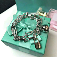 Luxury Titanium Steel Quality Charm Chain Fit Original Bracelet Bangle For Women Authentic Jewelry Pulseira Gift