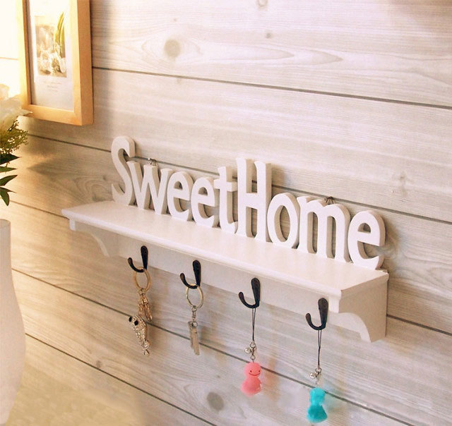 Vogue Sweet Home Shelves Wall Rack Wood Home Holder