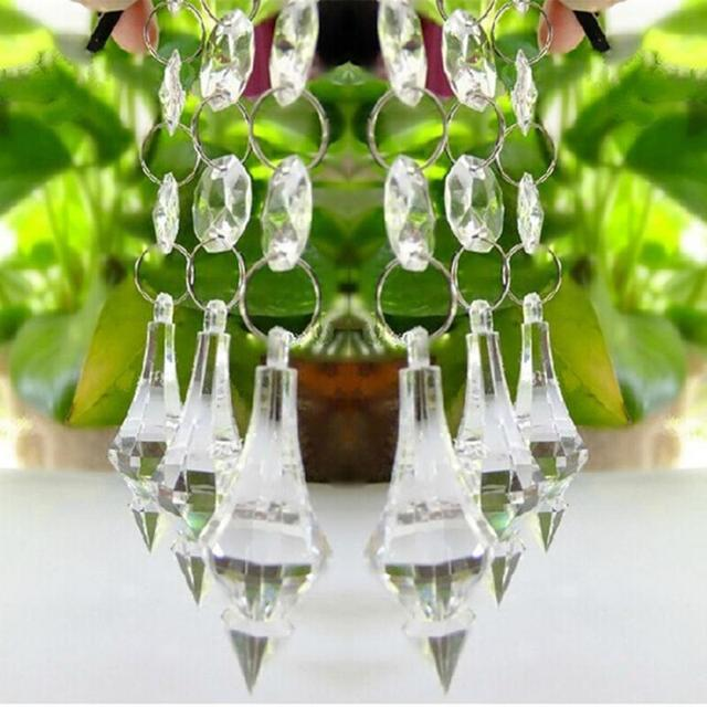 1 pc wedding acrylic crystal 1438mm octagonal beads string drops 1 pc wedding acrylic crystal 1438mm octagonal beads string drops pendant garland chandelier hanging audiocablefo