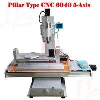 5 axis fresagem cnc máquinas 6040 alto desempenho 1500 W spindle