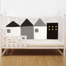 4pcs/set INS Baby Infant Bed Bumper House Shape Toddler Baby Crib Protector For Newborns Baby Room Decoration Sleeping Safety