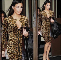 Sari Women Real Sari India Sale Cotton 2017 New Nightclub Sexy Long-sleeved Leopard-print Package Hip Cultivate One's Morality