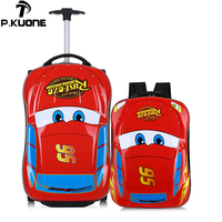 3D Supercar Child Boy Girl Toys Trolley Suitcase Luggage Bag Children's Schoolbag Wheel Suitcase Travel Children's Suitcase
